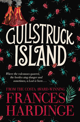 Gullstruck Island book cover of volcanoes and beatles