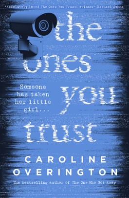 Blue book cover of The Ones You Trust with CTV camera static image